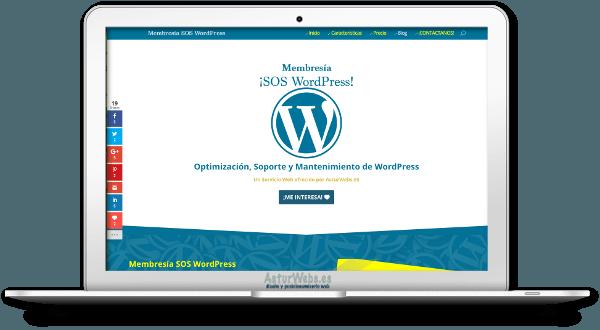 Ejemplo de Presupuesto Diseño Web además de la membresía SOSWP.co