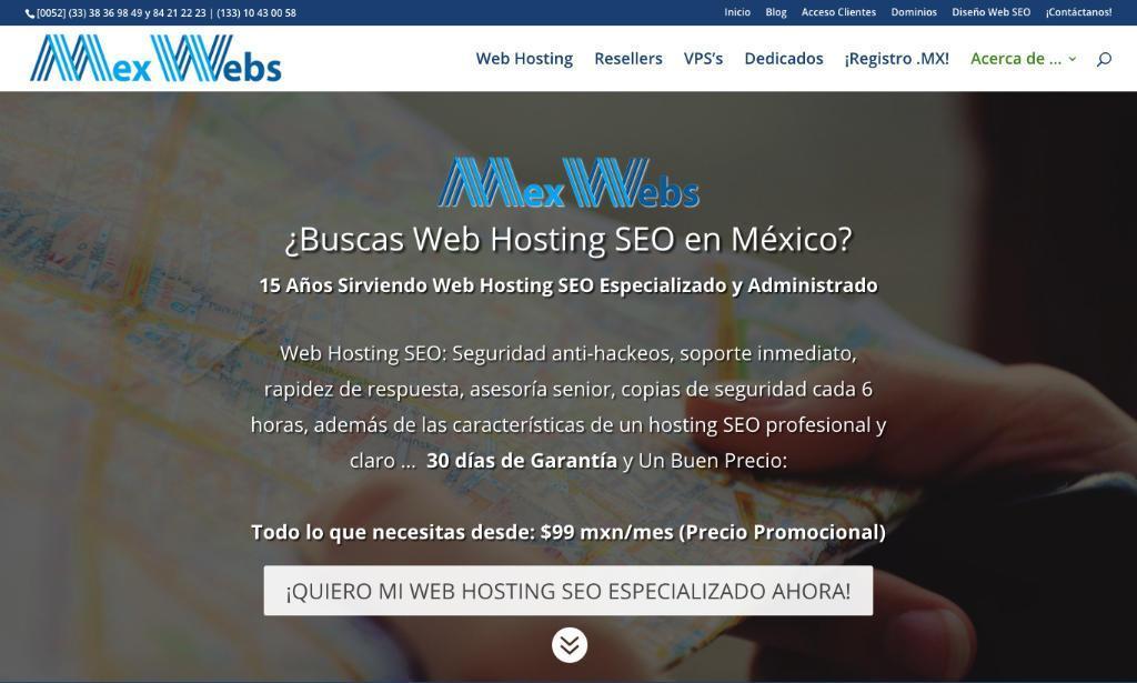 MexWebs Proveedor de Hosting en México
